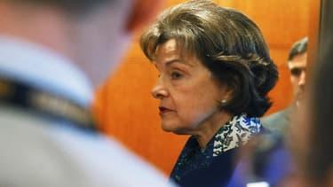 Dianne Feinstein après avoir accusé la CIA de fouille sur des ordinateurs d'enquêteurs du Sénat, le 11 mars 2014.