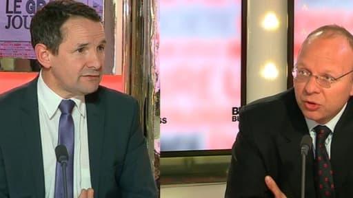 Thierry Mandon et Guillaume Poitrinal étaient les invités de BFM Business ce lundi 14 avril.