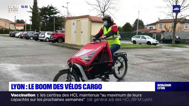 Lyon: le boom des vélos cargo