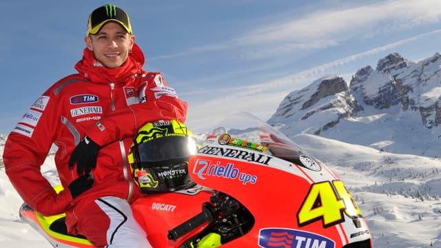 Valentino Rossi et la nouvelle Ducati