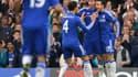 Les joueurs de Chelsea fêtent un de leurs buts contre Sunderland