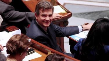 Arnaud Montebourg, lors des séances de questions au gouvernement, ce mardi 8 octobre.