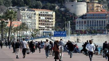 La Promenade des Anglais à Nice, le 20 février 2021