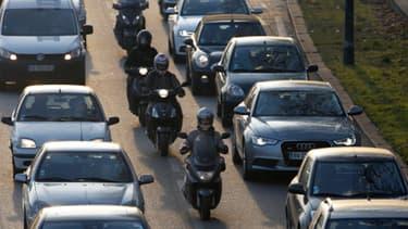 Saint-Cloud: Embouteillage sur le peripherique le 12 Décembre 2013 (Illustration)