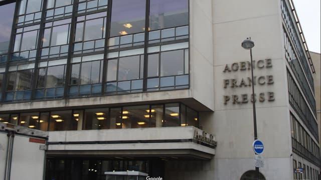 Les locaux de l'AFP à Paris, dans le IIe arrondissement.