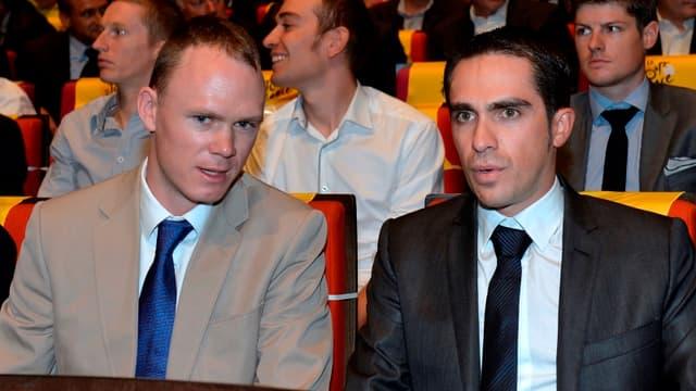 Christopher Froome et Alberto Contador