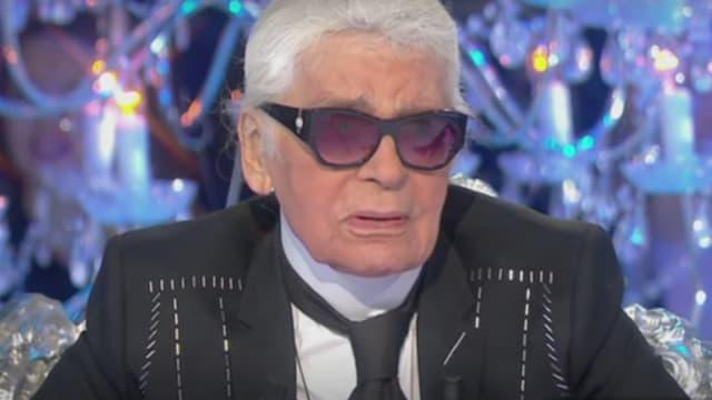 """Karl Lagerfeld sur le plateau de """"Salut les terriens!"""", samedi 11 novembre"""