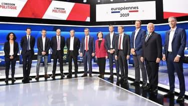 Les 12 candidats du débat organisé par France Télévision.