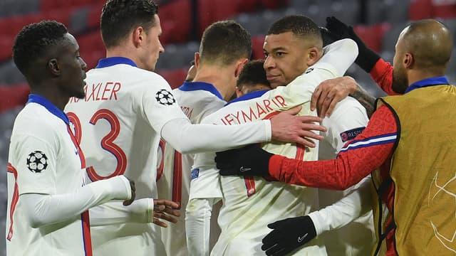 La joie des Parisiens face au Bayern Munich.