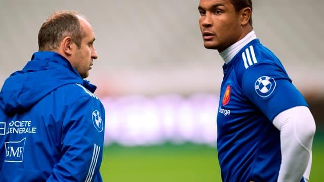 Thierry Dusautoir avec Philippe Saint-André