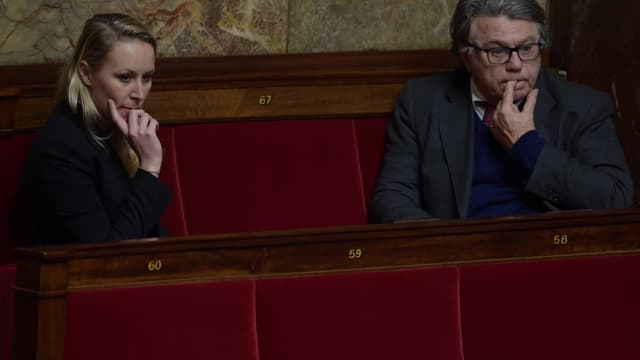 Marion Maréchal-Le Pen et Gilbert Collard, à l'Assemblée nationale.