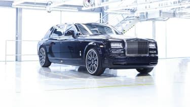 Cette Phantom VII à base rallongée et personnalisée sur la thématique du voyage est la dernière à sortir des ateliers de Goodwood (Angleterre) ce 31 janvier.