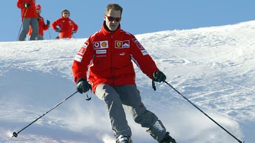 Michael Schumacher, ici en 2005, est toujours hospitalisé à Grenoble.