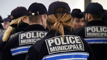 Des policiers municipaux de Marseille le 30 juin 2015.