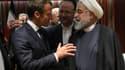 Emmanuel Macron et Hassan Rohani, le 27 septembre 2019, au siège de l'ONU.