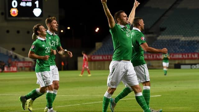 Robbie Keane (bras levés) reste une pièce essentielle de l'équipe d'Irlande