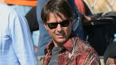 """Tom Cruise sur le tournage de """"Mission Impossible 5"""" au Maroc en 2014"""
