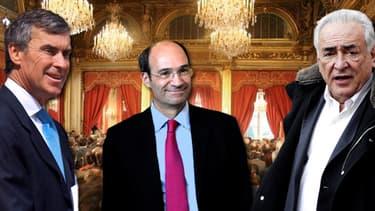 Jérôme Cahuzac, Eric Woerth -qui n'a pas démissionné mais a perdu son poste à la suite d'un scandale- et Dominique Strauss-Kahn