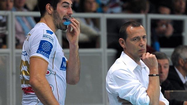 Nikola Karabatic et Patrice Canayer