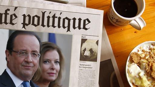 """François Hollande redeviendrait """"tendre et attentionné"""" avec son ex-compagne, selon le livre """"Le président qui voulait vivre ses vies"""" (Fayard)."""