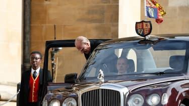 Le prince Philip arrivant au mariage de la princesse Eugénie.