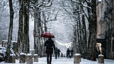 Chutes de neige à Lyon.