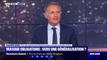 """Philippe Juvin sur les masques: """"L'absence de clarté nuit à la lutte contre l'épidémie"""""""