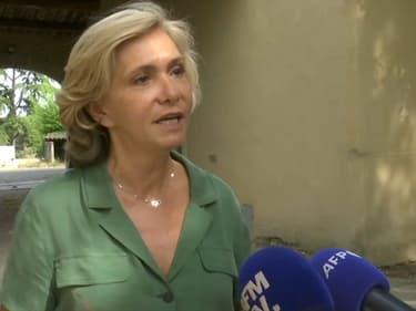 Valérie Pécresse, présidente de la région Île-de-France et candidate à la présidentielle de 2022, à Montségur-sur-Lozon (Drôme) le 23 juillet 2021.