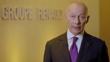 Thierry Bolloré, qui a repris la direction opérationnelle du groupe Renault suite à l'arrestation de Carlos Ghosn.