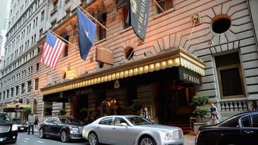 Starwood est notamment propriétaire de l'hôtel St Regis de New York, photographié ici en 2014.
