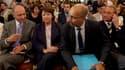 De gauche à droite, Laurent Fabius, Martine Aubry, Harlem Desir et Bertrand Delanoë. Le Conseil national du Parti socialiste a entériné le projet de rénovation du parti, qui tourne autour de l'organisation de primaires pour la présidentielle de 2012 et du