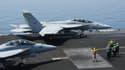 Les deux bombardiers américains qui ont largué ce vendredi des bombes près d'Erbil, dans Kurdistan irakien.