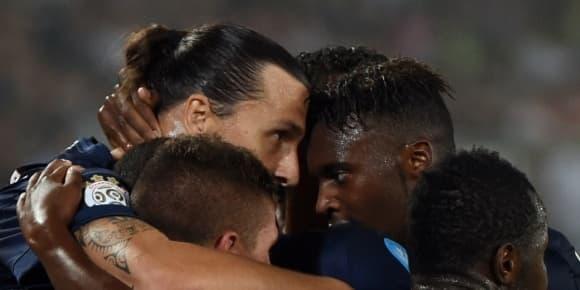 Zlatan Ibrahimovic et ses coéquipiers.