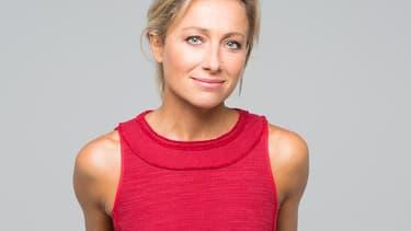 Anne Sophie Lapix, le 4 septembre 2017, avant son premier JT sur France 2