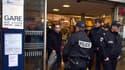 Des policiers en gare de Lyon,  le 16 janvier 2015.