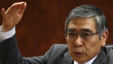 Le président de la Banque du Japon, Haruhiko Kuroda