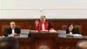 Le juge Touhami Hafian au palais de justice de Tunis, au premier jour du procès par contumace de Zine ben Ali. L'ancien président tunisien, réfugié en Arabie saoudite, rejette les charges de possession illégale de drogues, d'armes, de devises étrangères,