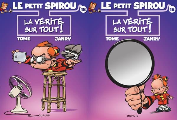 Les différentes couvertures du nouvel album du Petit Spirou