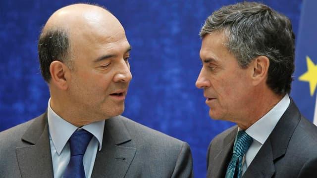 Pierre Moscovici, le ministre de l'Economie, et Jérome Cahuzac, celui du Budget, ont présenté ce vendredi le projet de loi de finances pour 2013
