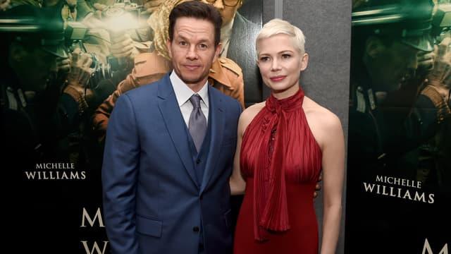Mark Wahlberg et Michelle Williams à la première de All The Money In The World à Los Angeles en décembre 2017