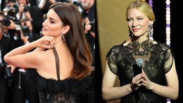 Penélope Cruz et Cate Blanchett au Festival de Cannes