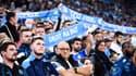 Des supporters de l'OM au Vélodrome