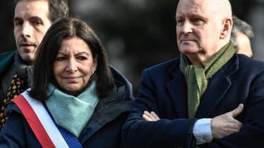 Anne Hidalgo et son adjoint à la Culture Christophe Girard.