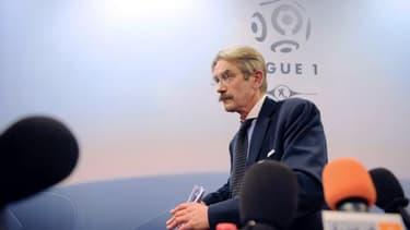 Frédéric Thiriez, le président de la LFP, n'a pas voulu donner d'objectif chiffré
