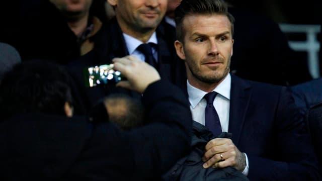 David Beckham dans les tribunes de Mestalla