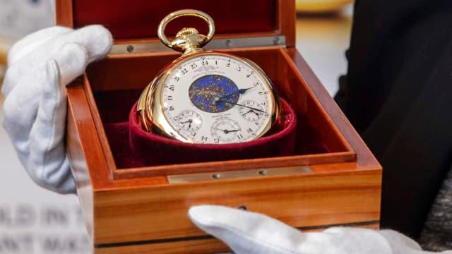 """La montre """"Graves"""" de Philippe Patek avait déjà été vendue aux enchères en 1999 pour un prix, à l'époque, de 11 millions de dollars."""