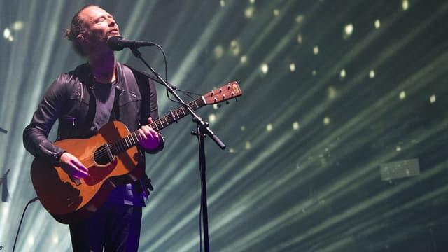 Thom Yorke, leader de Radiohead, le 16 avril 2017 à Coachella