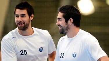 Luka et Nikola Karabatic, deux frères mis en cause dans l'affaire des paris truqués.
