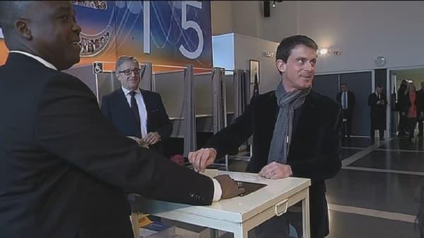 Manuel Valls à Evry, le 29 mars.