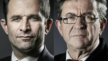 Benoît Hamon et Jean-Luc Mélenchon.